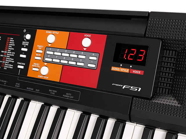 Detalle Teclado Yamaha PSR-F51