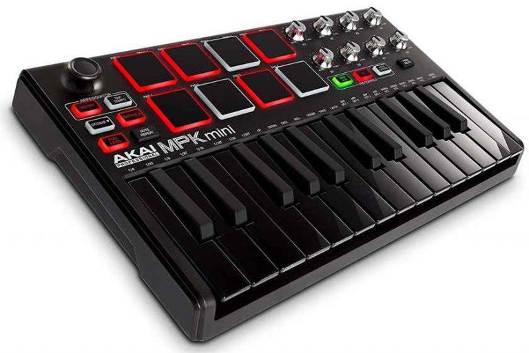 Controlador MIDI AKAI Professional MPK Mini Mk2 negro