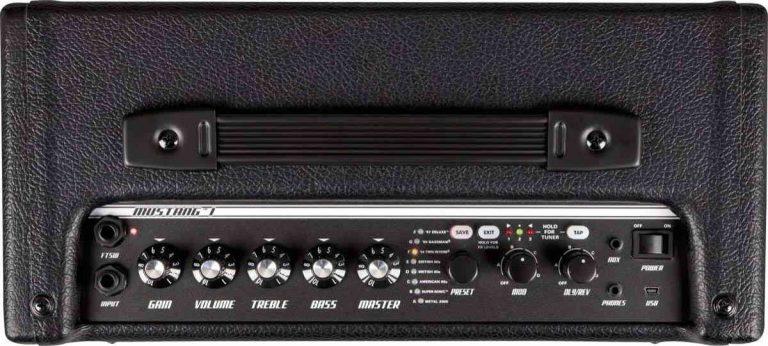 Controles del amplificador Fender Mustang I V2