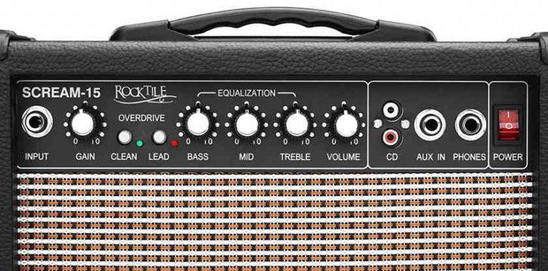 Controles del amplificador Rocktile Scream-15